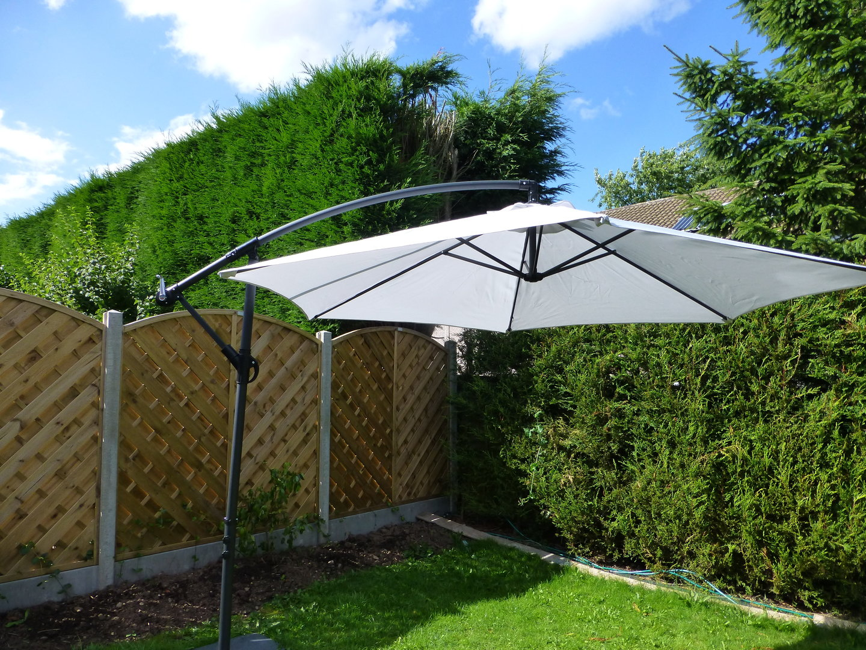 garden parasols uk-gardens 3m grey cantilever hanging garden parasol umbrella freestanding  ... UNEVMMG