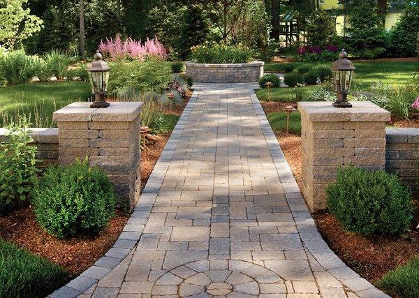garden path ideas another cool diy garden path idea is to make use of pavers. IDANDBT