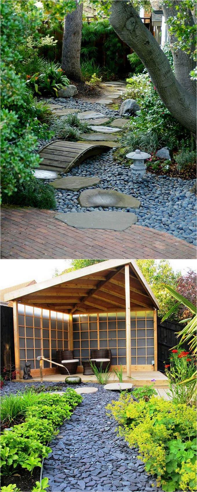 garden path ideas pebbles and slate chips garden path NDKMUMV