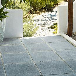 garden paving slabs dark grey textured single paving slab (l)600mm (w)600mm ATWANFY