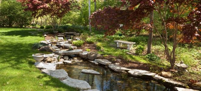 garden pond you have installed your pond-preformed or concrete, sunken or raised-but  your ACHYNVJ