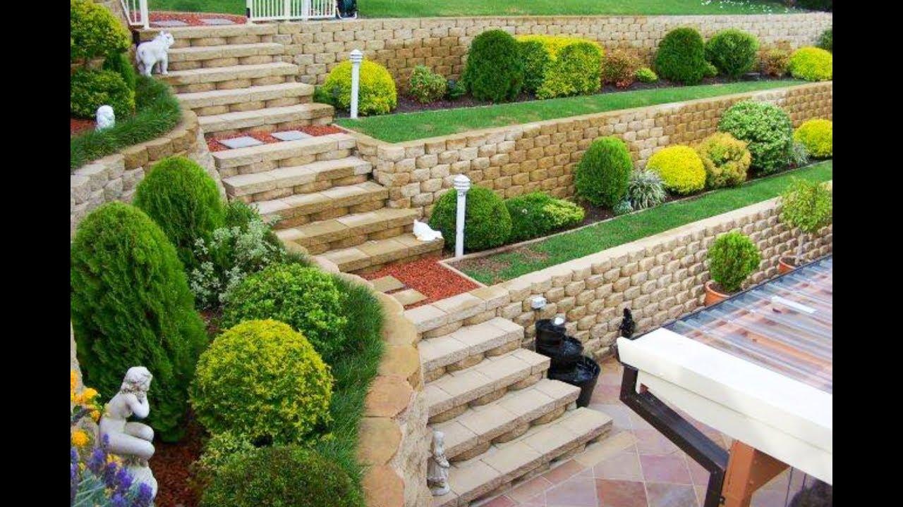 garden retaining wall 60 retaining wall design ideas 2018 - garden and landscaping retaining wall TXMEOUP