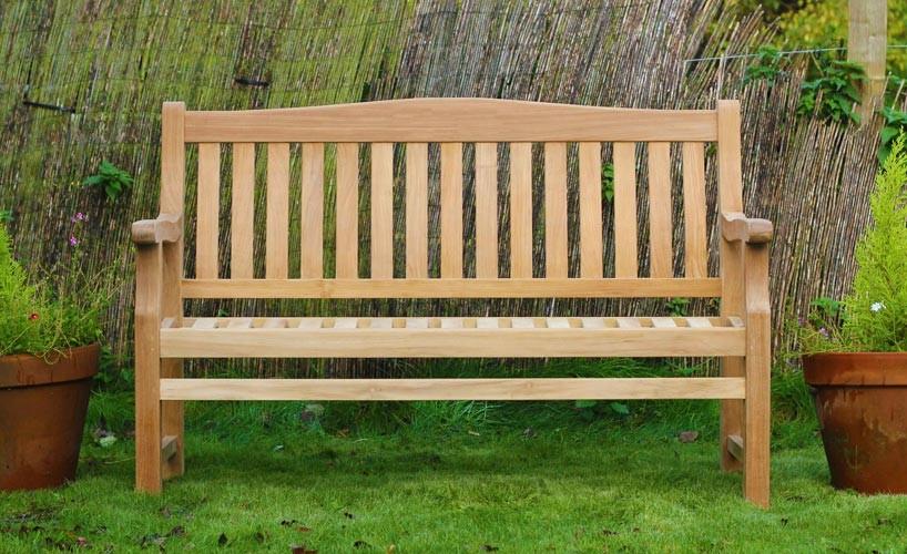 garden seat 3 seater scotney teak garden bench JUNWFGX