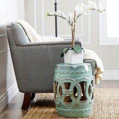 garden seat com vaso de flores ARFLSKW