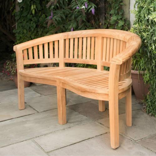 garden seat curved teak garden bench to seat 3 SSPSTJO