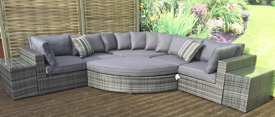 garden sets grey rattan garden furniture sets for sale IEBMSAG
