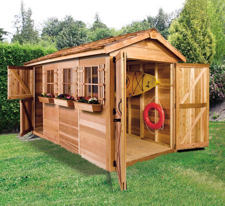 garden shed kits boathouse for kayak storage; beautiful grey boathouse kit ... PVEQXEG