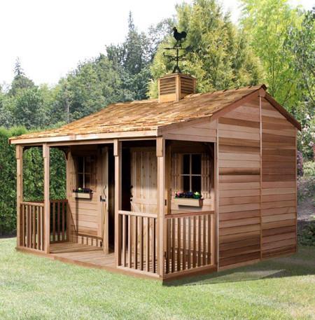 garden shed kits cedarshed ranchhouse kit ... WYQFAXP