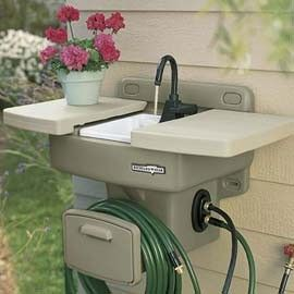 garden sink outdoor sink. no {extra} plumbing required.. connects to any outside spigot XXWTDLO