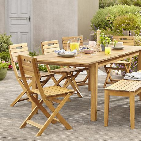 garden table and chairs denia range · denia natural wood garden furniture ... XDYNSEK