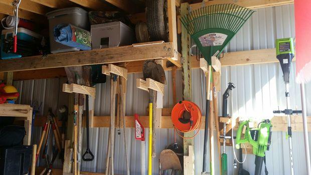 garden tool storage long handle tool storage rack KMRBHFB