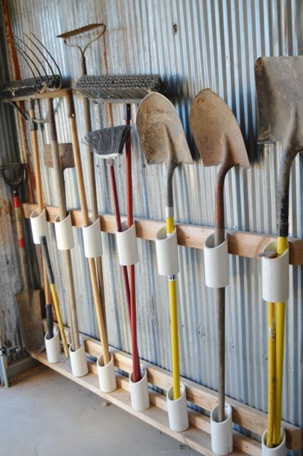 Out of the box Ideas for Garden Tool Storage