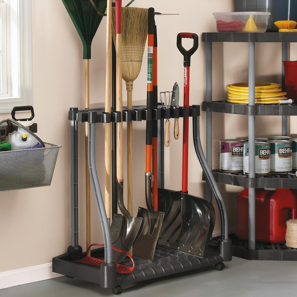 garden tool storage rubbermaid deluxe tool tower AWZNTME