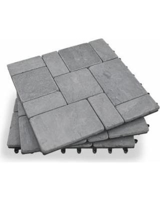 garden winds grey stone deck tiles - box of 10 ALOOHQE
