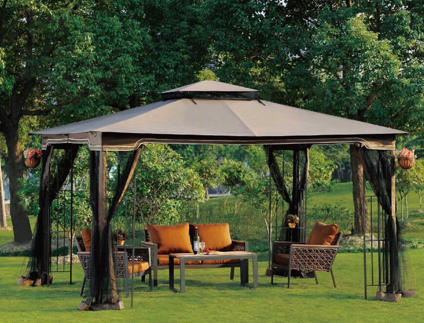 gazebo ideas these portable gazebos are a great way to create a focal point VPKTSOL