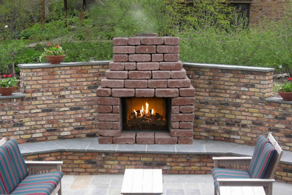 A Suitable Patio Fireplace