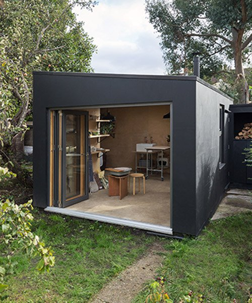 grey griffiths architects completes garden studio from waste material, ... TWRMXJQ