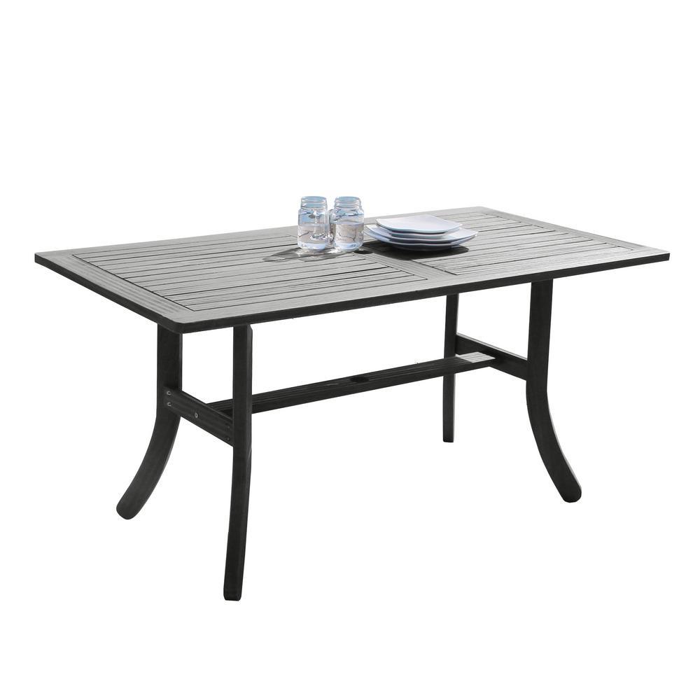 hand-scraped acacia patio dining table BNFBWHQ