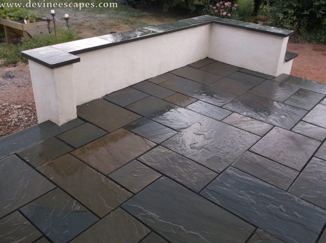 here is a more polished look to the flagstone patio. the stones YRCFHCT