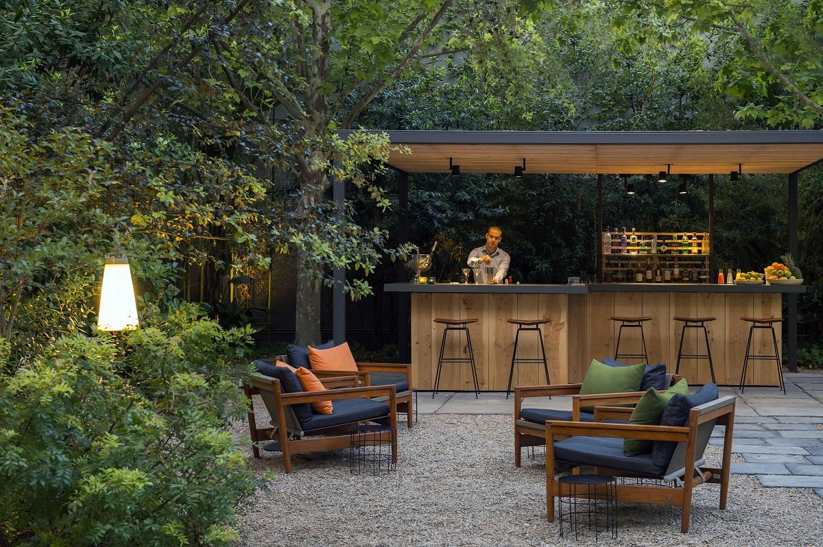 hotel alma interior garden bar and cafe EGTWIXU