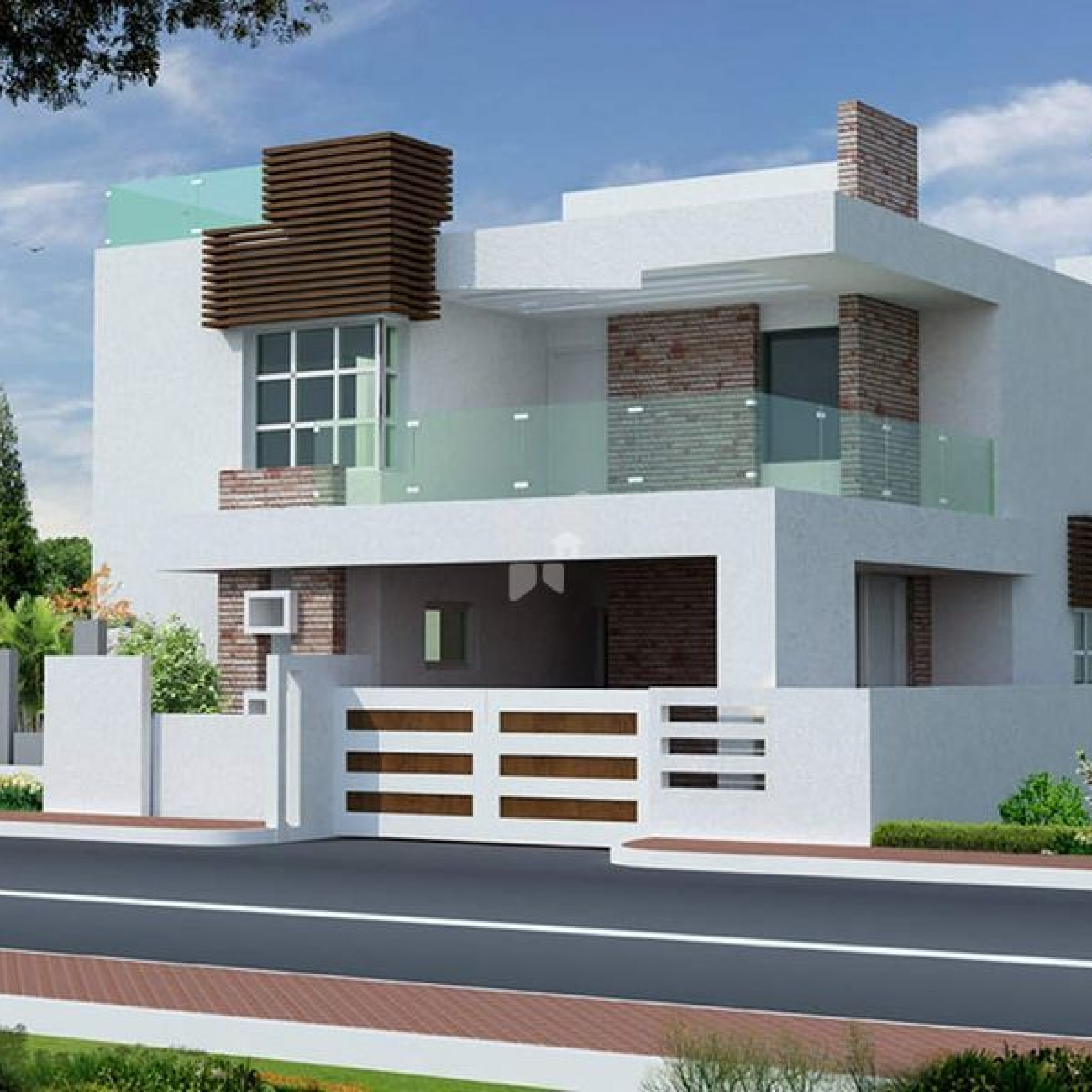 house front design latest modern house front designs ghar banavo small beach KNESIHX
