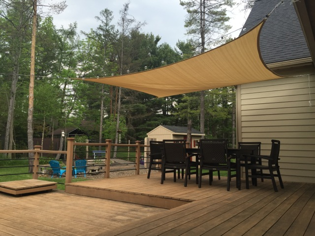 how-to install shade sails for your pool or patio HRZANUW