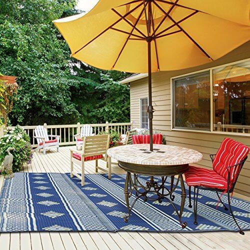 indigomer outdoor patio rug ... FYMBPQE
