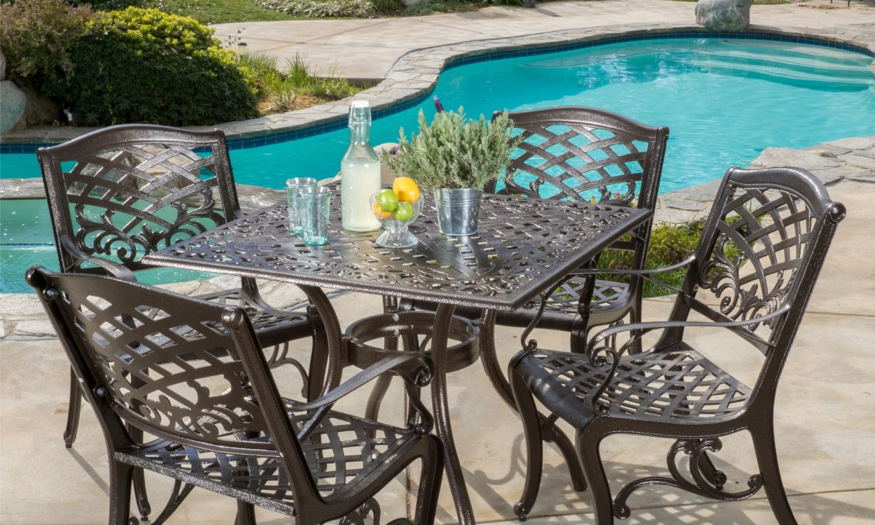 iron patio furniture how to choose the best metal patio set PWPBZAF