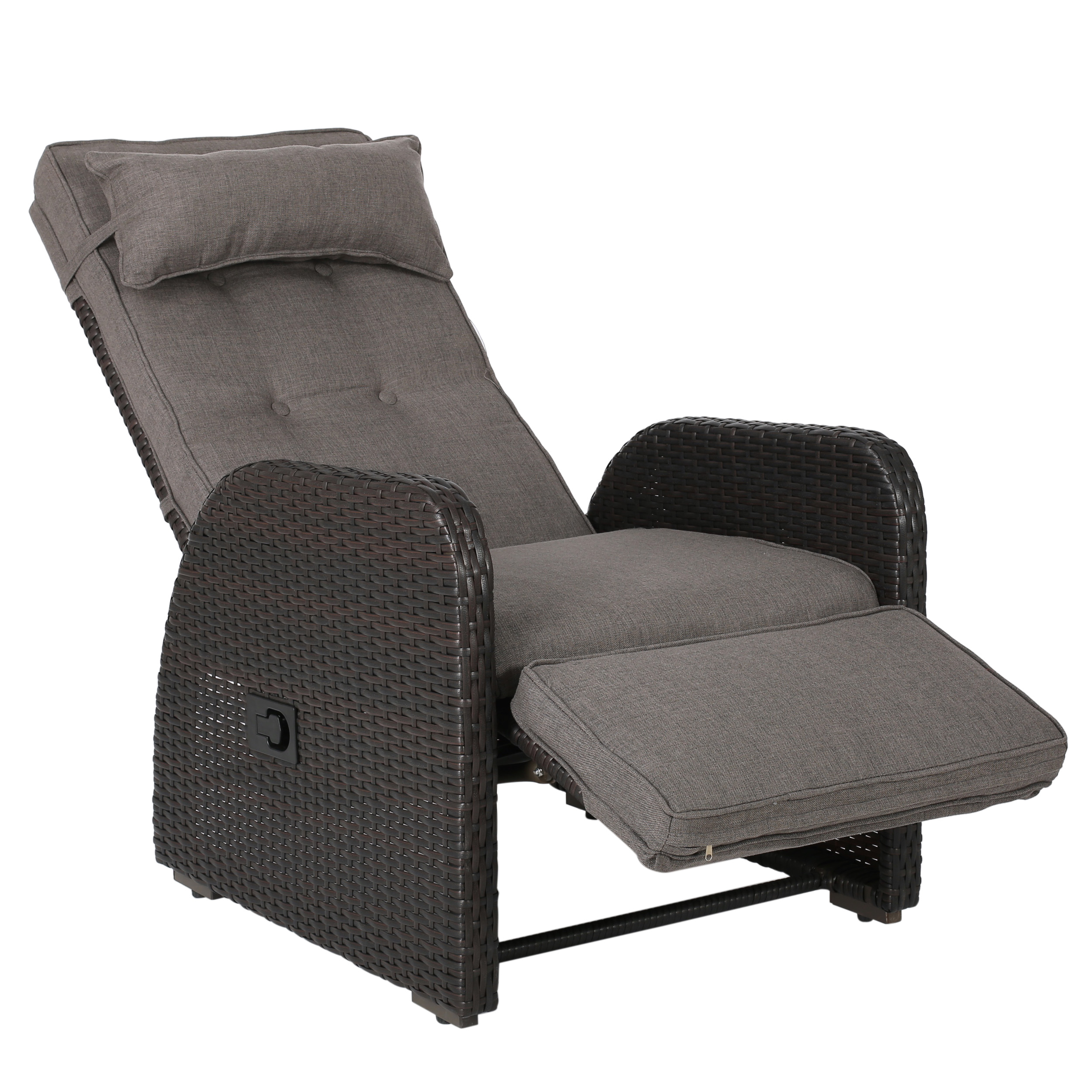 la pelonne outdoor recliner w/ cushion, brown PUVUUPL