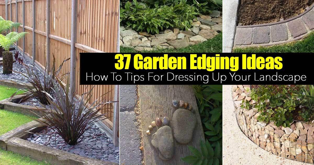 landscape edging ideas 37 garden border ideas to dress up your landscape edging KHGOHDC