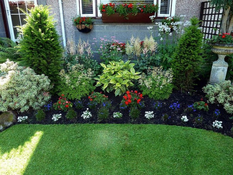 landscape ideas you can get lots of ideas for simple, yet effective front lawn MALAMUB