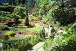 landscaping design view of the sunken gardens at butchart gardens SPVOJCR