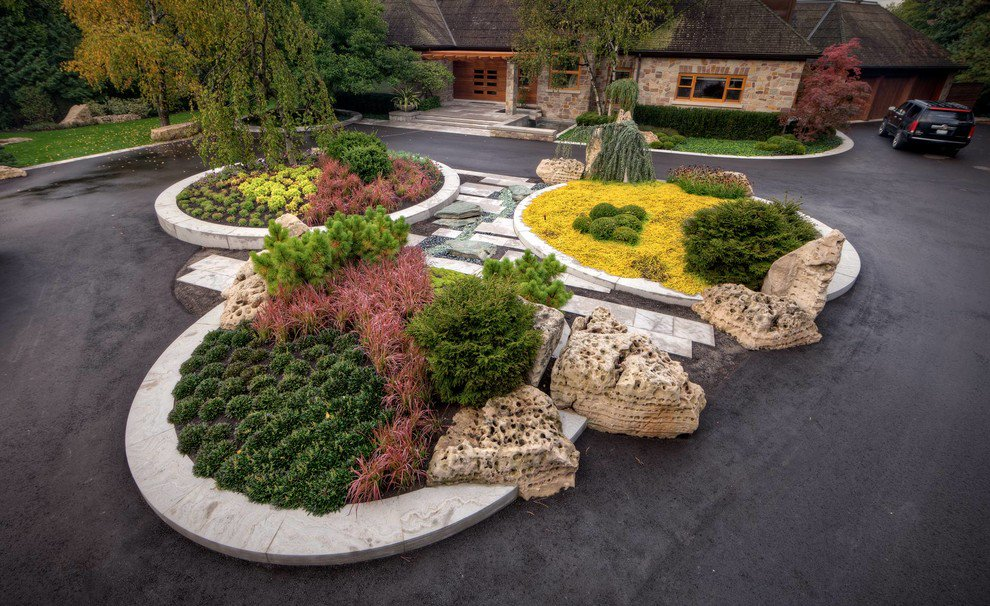 landscaping designs 18 impeccable transitional landscape designs to make the best use of spring QTKVYFT