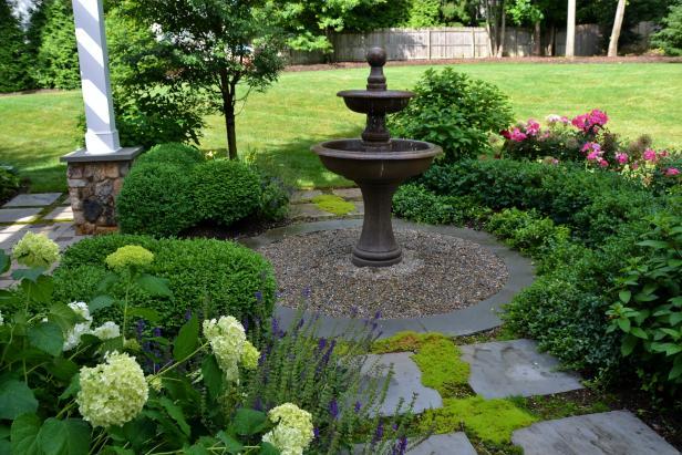 landscaping designs garden fountain feature GNXSUOV