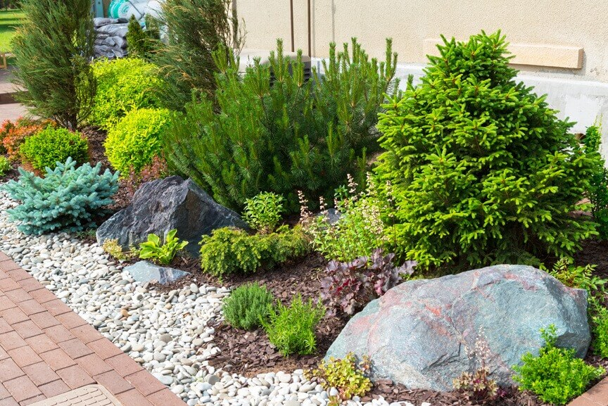 landscaping with rocks how to landscape with rock instead of mulch VMVZPZS