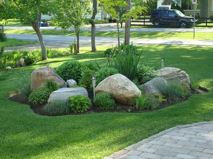 landscaping with rocks mix landscape bed with large rocks COSYJAF
