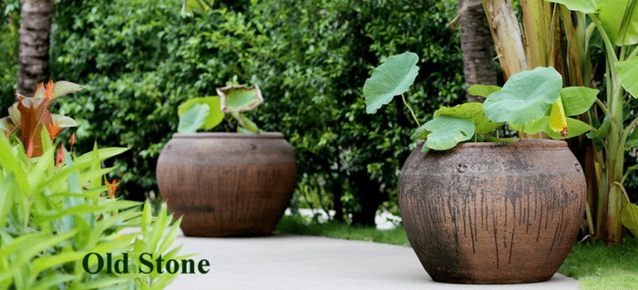 large garden pots extra old stone rustic ironstone XGQCCVD