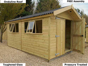 large garden sheds garden sheds for sale uk (fitted free) the best in 2018 PBYTWKD
