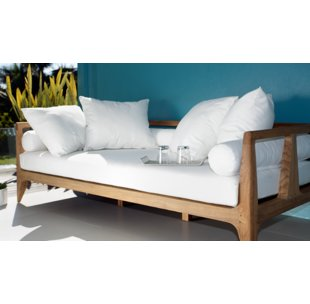 limited teak patio daybed with cushions PCBNQDG