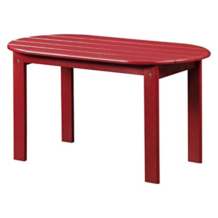 linon adirondack patio coffee table in red WSOPKXD