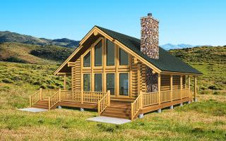 log home plans small log cabin kits - yellowstone log homes GXXIFGF