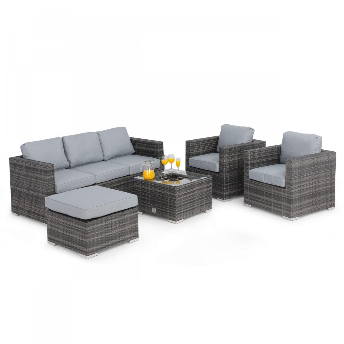 maze rattan furniture georgia 3 seat grey sofa set fla-102525 ICAFOXN