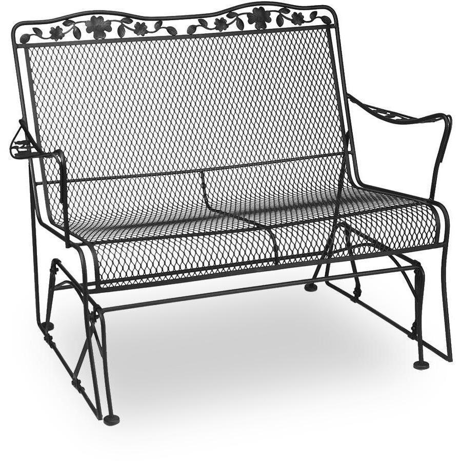 meadowcraft dogwood wrought iron loveseat patio glider : ultimate patio GKEINCH