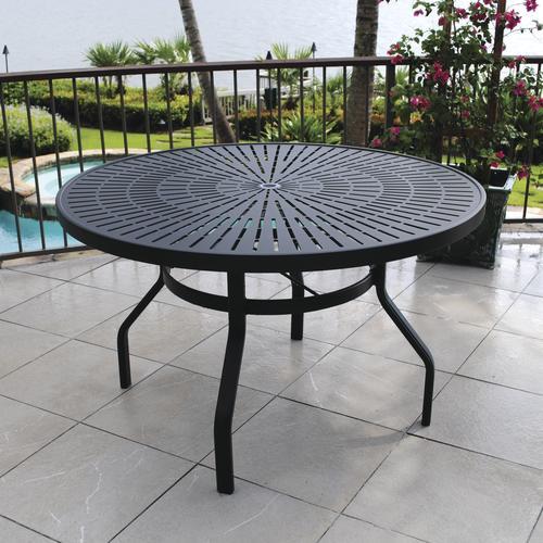 menards patio furniture backyard creations® sanibel round dining patio table at menards® GTIDWIU