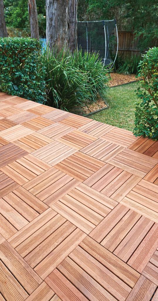 merbau decking tiles 300x300x25mm ... ANEWWGZ