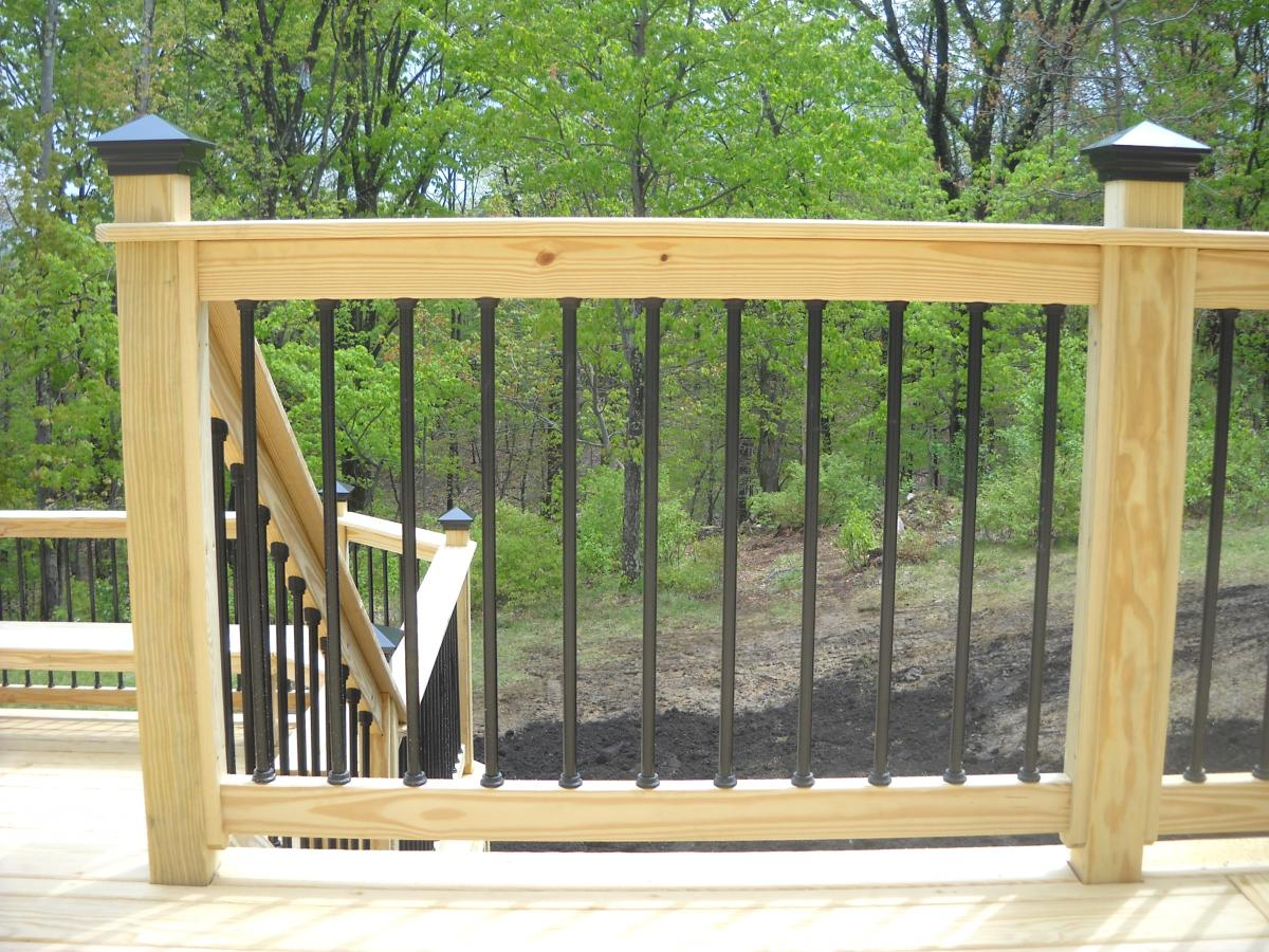 metal deck spindles over pressure treated pine ZYNWPEF