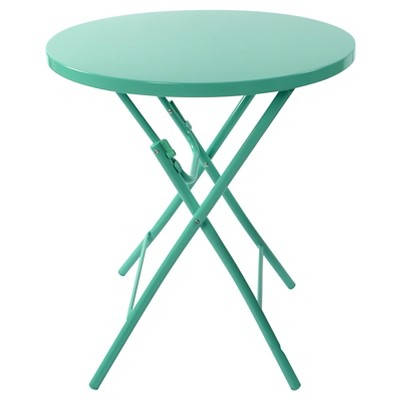 metal folding patio table turquoise - room essentials™ GHIXNBV