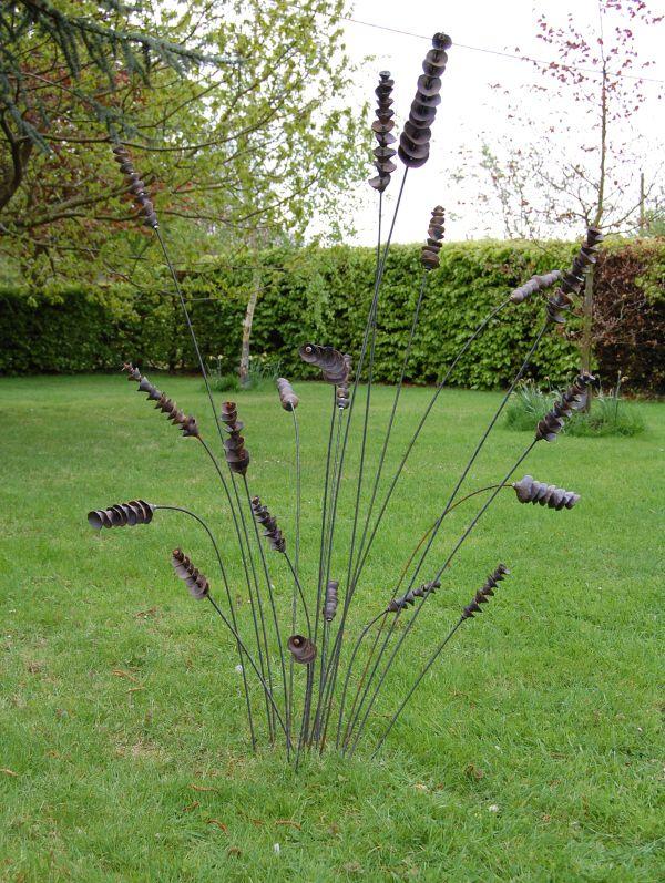 metal garden art image detail for -garden art - metal stakes. suzie gutteridgegarden design BDWVYUG
