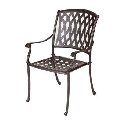 metal garden chairs aluminium venetian chair - antique bronze AQLIEKF