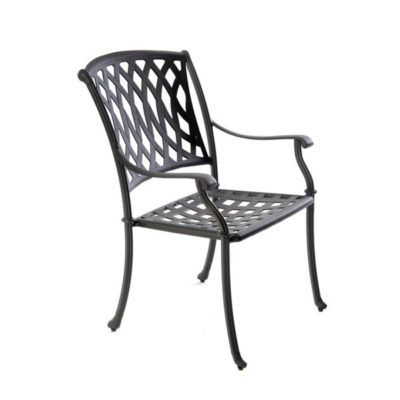metal garden chairs aluminium venetian chair - satin black AXKQHUL